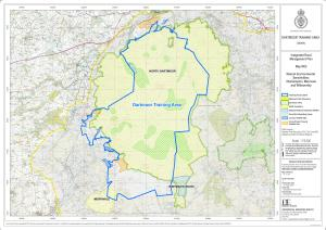 Dartmoor training area overlaid on SSSI
