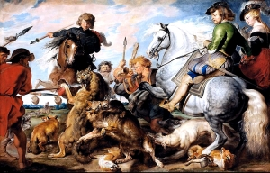 Wolf and Fox Hunt: Rubens
