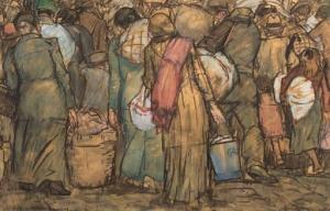 Leo_Gestel_Vluchtende_Belgen_1914